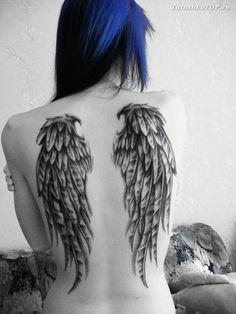 Angle Wing Tattoos, Wing Tattoos On Back, Raven Tattoo, I Tattoo, West Coast Tattoo, Angel Wings Tattoo On Back, 80s Aesthetic, Tattoo Stencils, Tatting
