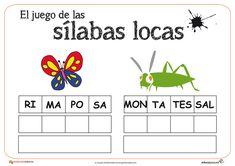 """Recursos para el aula: Las sílabas locas Os dejamos la segunda entrega de este fantático juego de """"Las sílabas locas"""","""