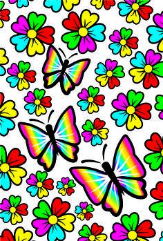 Hermosa Etiqueta Nails Imágenes Parte 6 - IMÁGENES DE ETIQUETA DE UÑAS Butterfly Background, Butterfly Flowers, Beautiful Butterflies, Rainbow Wallpaper, More Wallpaper, Wallpaper Backgrounds, Dragonfly Wallpaper, Dragonfly Art, Chalk Pastel Art