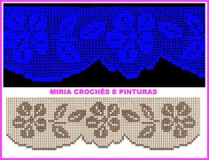 MIRIA CROCHÊS E PINTURAS: BARRADOS DE CROCHÊ COM FLORES N° 666