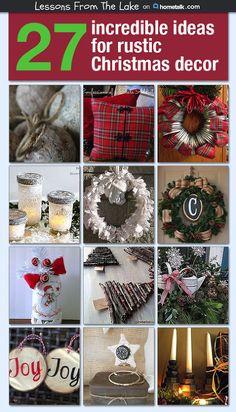 27 Incredible Ideas For Rustic Christmas Decor