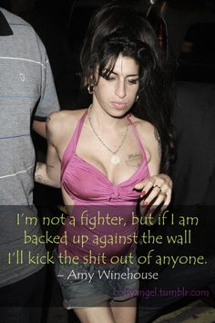 amy # amy winehouse # fighter # wall