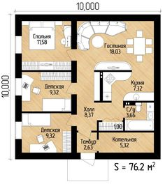 Plan doma 10x10
