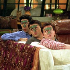 Chandler, Joey, and Ross