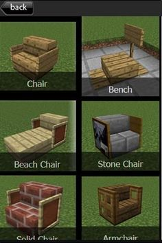 minecraft furniture guide outside - Best chair ideas! Minecraft Plans, Minecraft Room, Minecraft Tutorial, Minecraft Blueprints, Cool Minecraft Houses, How To Play Minecraft, Minecraft Crafts, Minecraft Memes, Minecraft Furniture