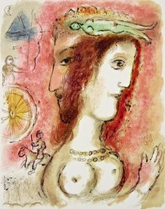 Ulysses & Penelope. The Odyessy 1989, Ltd Ed Lithograph, Marc Chagall