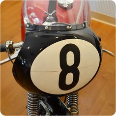 Magic 8-Ball fairing on 1960 Matchless G50 at Solvang Motorcycle Museum