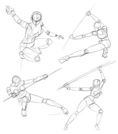 action poses quick 20sec sketches