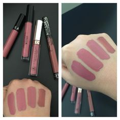 """""""And here are my top 4 liquid matte lipstick swatches!!! It's crazy how much Sephora Marvelous Mauve, Stila Patina, and Anastasia Dusty Rose…"""""""