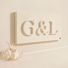 painted wood letters on canvas, i like it!