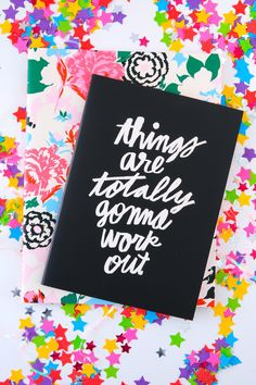 ban.do Good Ideas Notebook Set-Florabunda+Things Are Totally Gonna Work Out - New Today | The Red Dress Boutique