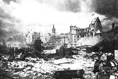 Koenigsberg after the heavy air raids in summer 1944.