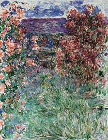 Claude Monet The House among the Roses 1925 Oil on canvas. 92.3 x 73.3 cm Carmen Thyssen-Bornemisza Collection on deposit at Museo Thyssen-Bornemisza INV. Nr. (CTB.1998.52)