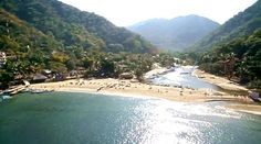 Yelapa, a beach and town hidden 40 minutes south of Puerto Vallarta by sea. A magical place you must visit http://www.puertovallarta.net/what_to_do/yelapa.php
