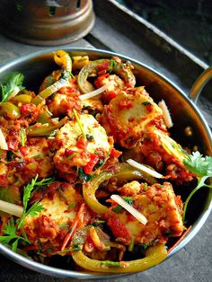 Indian Kadai Paneer Recipe. Read more: http://foodmenuideas.blogspot.com/2014/06/indian-paneer-recipe.html