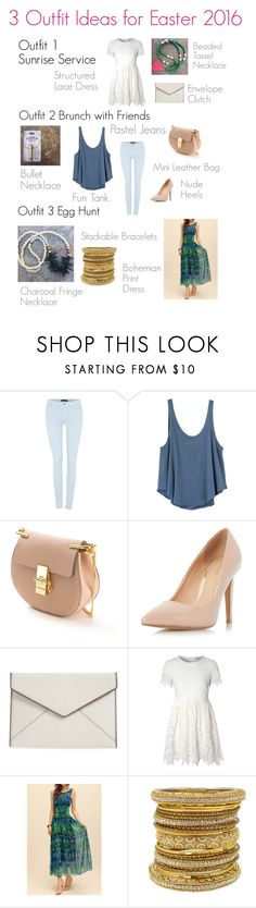 """easter outfit 2016"" by explorer-14580620684 on Polyvore featuring 7 For All Mankind, RVCA, Chloé, Dorothy Perkins, Rebecca Minkoff, Glamorous and Chamak by Priya Kakkar"