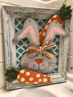 Easy Fall Crafts, Easy Christmas Crafts, Spring Crafts, Diy Crafts, Bunny Crafts, Easter Crafts, Easter Projects, Easter Ideas, Hoppy Easter