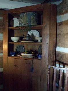. Beautiful cupboard and small early primitives.