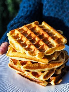 Gaufres French Waffles - My Parisian Kitchen French Desserts, French Food, French Recipes, Healthy Breakfast Recipes, Healthy Foods To Eat, Healthy Recipes, Batter Recipe, Recipe Recipe, Pancake