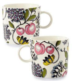 The Peach mugs by Finnish Vallila | Vallila Persikka-mukit