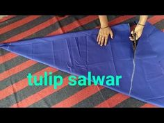Tulip salwar cutting and stitching/ ट्युलिप सलवार / tulip / salwar cutting / - Modern Back Neck Designs, Dress Neck Designs, Blouse Designs, Salwar Designs, Kurti Designs Party Wear, Couture, Tulip Pants, Salwar Pattern, Salwar Pants