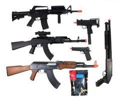 Airsoft AK47   Tactical AK-47  M4   Shotgun   M1911   M11A1 COMBO