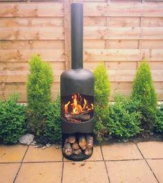 Extra Large 47kg Gas Bottle Wood Log Burner Chiminea Patio Heater Fire Pit