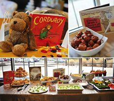 "Book Baby Shower  A book (or ""library"" or ""bedtime story"") baby shower is a clever way to start building baby's library. Ask guests to kindly bring a new or used children's book in lieu of a card, and then enjoy a book-themed party — with books and a book-related menu."