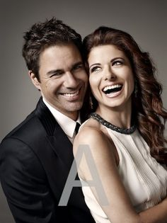 Eric McCormack and Debra Messing. Will and Grace Pretty People, Beautiful People, Debra Messing, Tv Show Casting, Will And Grace, Tv Couples, Comedy Tv, Great Tv Shows, Badass Women