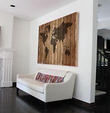 Details zu neuheit leinwandbilder kork pinnwand weltkarte for Weltkarte leinwand ikea