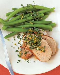 """See the """"Pork Tenderloin with Orange-Parsley Topping"""" in our  gallery"""