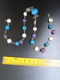 1 handgefertigte Halskette mit Samen Elodie Pradines 2