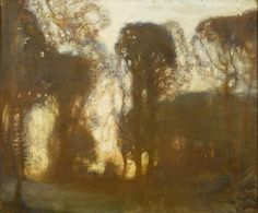 Sir Alfred James Munnings - Study of Trees: Evening, 1912.