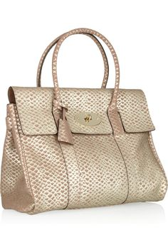 Mulberry | The Bayswater snake-effect leather bag