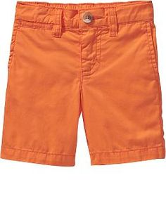 Pop-Color Twill Shorts for Baby