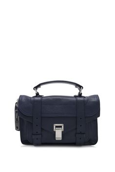 Proenza Schouler PS1 Tiny Leather Satchel Indigo (Designer Colour) - PROENZA SCHOULER