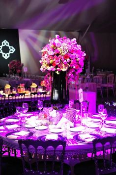 Pink flowers for weddings by KM Events