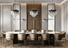 Twin House in SA on Behance Luxury Dining Room, Dining Room Design, Luxury Dining Tables, Room Interior, Home Interior Design, Piece A Vivre, Modern Dining Table, Interiores Design, Decoration