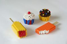 Lego food by edubl31216, via Flickr. Nom meets fun.