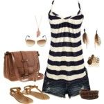 Hott Summer Outfit...jeans and stripes!