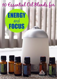 Having trouble keeping your energy level high during the winter? Try these energizing essential oil blends in your diffuser!