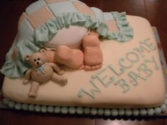 Baby Shower Bum Cake By chmgrl on CakeCentral.com