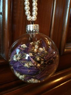 Dried Hosta Flower and Baby's Breath Ornament by TheFancyMoose