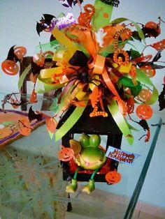 Centro de mesa halloween, creado x mi.