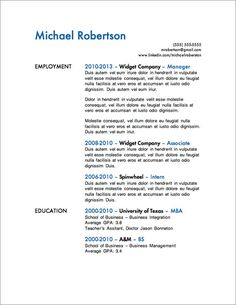 12 resume templates for microsoft word free download - Free Job Resume Template