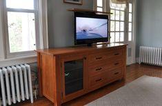 Media Cabinet with Hidden TV