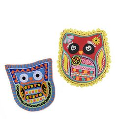 Take a look at this Red & Blue Owl's Best Friends Pillow Set by Karma Living on #zulily today!