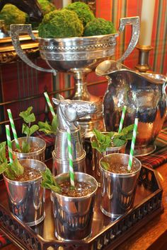 Mint juleps and silver.