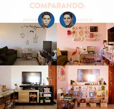 decoracao barata sala pequena apartamento