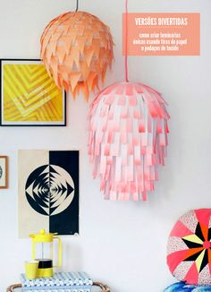 DIY paper lanterns #decor #DIY love the rectangle ones